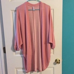 Slouchy Pink Cardigan
